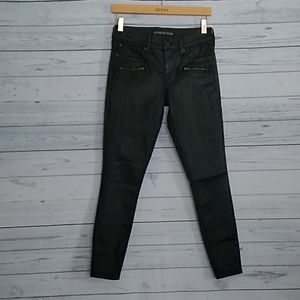 Express ankle wax leggings jeans mid-rise size 2R